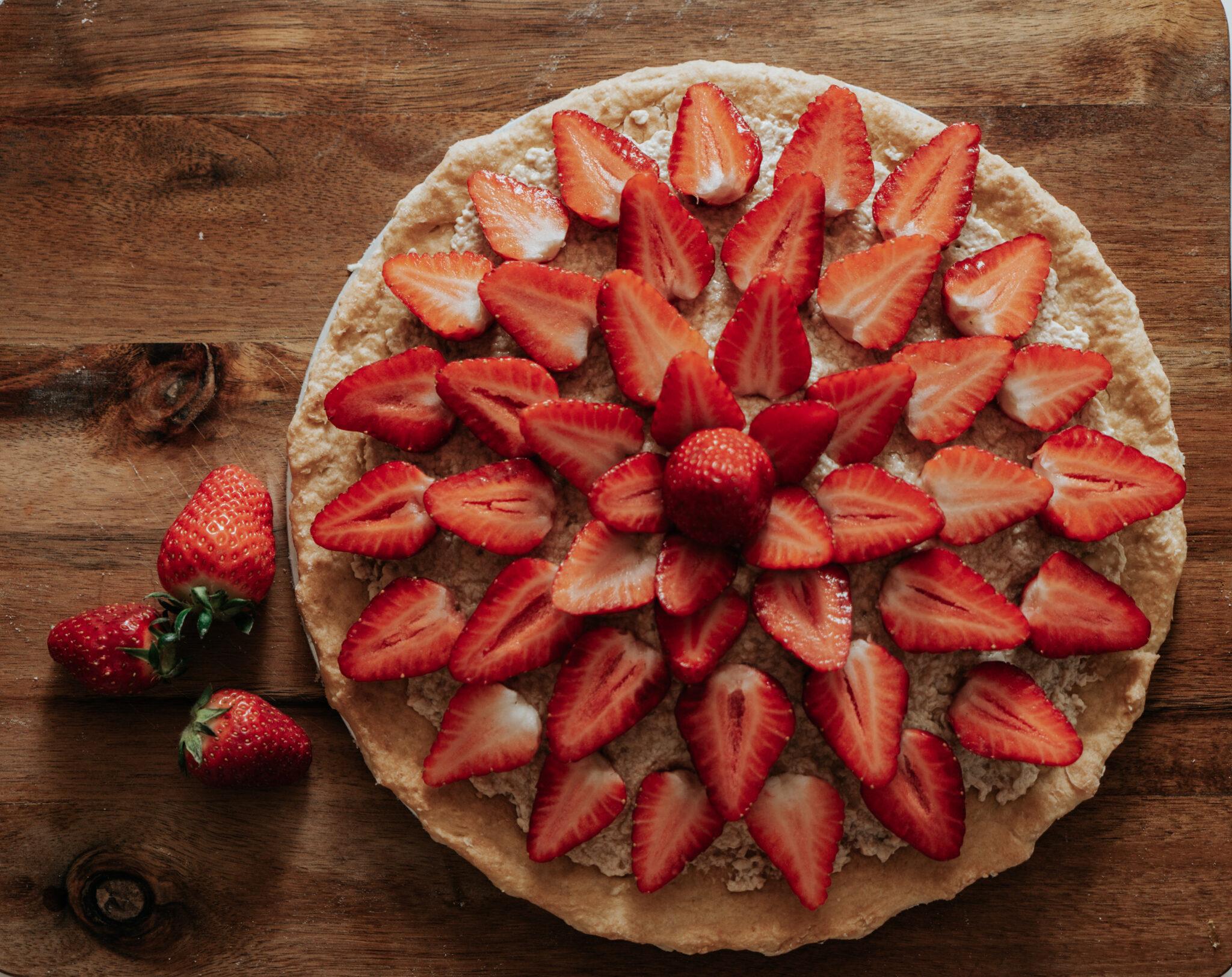 tarte aux fraises - strawberry pie - bodyandfly - food blogger